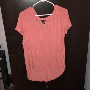 Blush short sleeve shirt